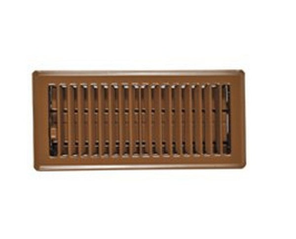 "Imperial RG0168 Floor Register, Brown, 2-1/4"" x 12"""