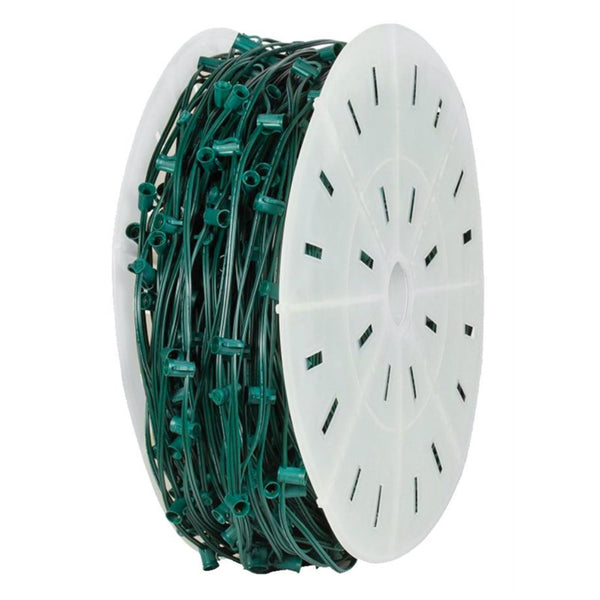 Holiday Bright Lights C71000GC-12 Commercial Grade Christmas Light Wire Spool, Green