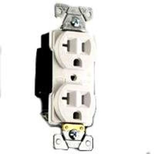Cooper Wiring 5352W Industrial Grade Duplex Receptacle, 20A-125V