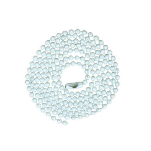 Jandorf 60373 Beaded Chain 3' with #6 Connector, White