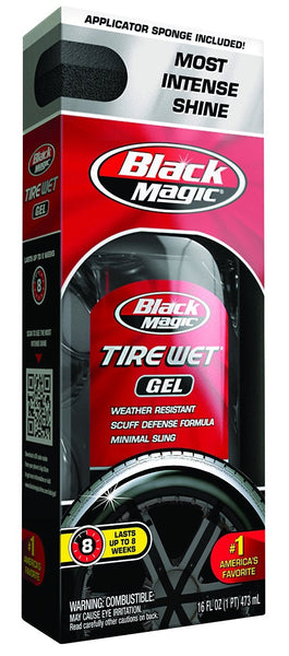 Black Magic 5072647 Tire Wet Gel, 16 Oz