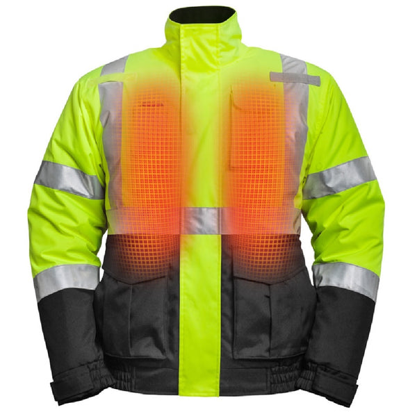 Mobile Warming MWJ19M04-10-04 Hi-Viz Heated Jacket, Large