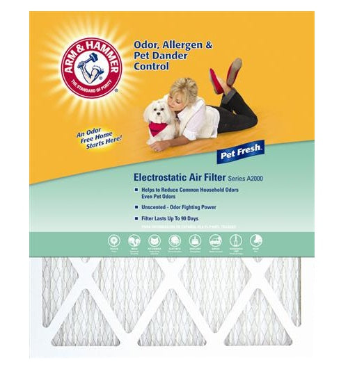 "Arm & Hammer AFAH1625 Pet Fresh Pet Protection Air Filter, 16"" x 25"" x 1"""