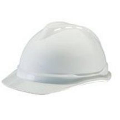 MSA 10034018 V-Gard Advance Class C Type I Polyethylene Vented Hard Cap With Fas-Trac 4 Point Suspension, White
