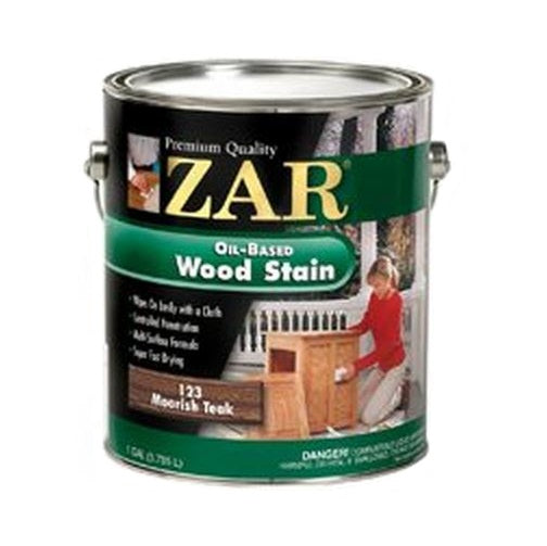 Zar 12313 Interior Oil Based Wood Stain, 123 Moorish Teak, 1 Gallon