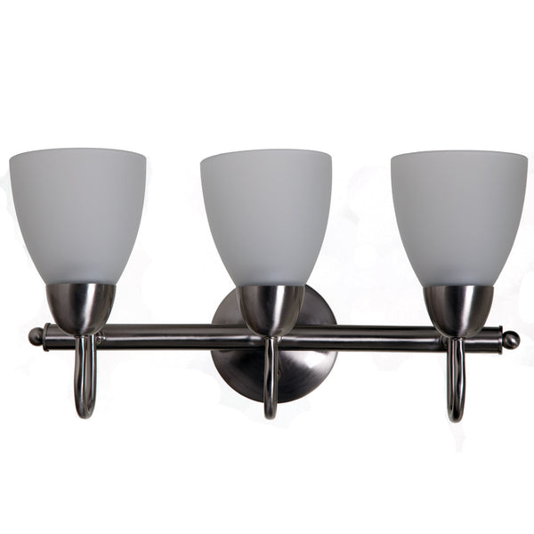 Boston Harbor A2242-93L Three Light Vanity Bar Fixture, Brushed Nickel