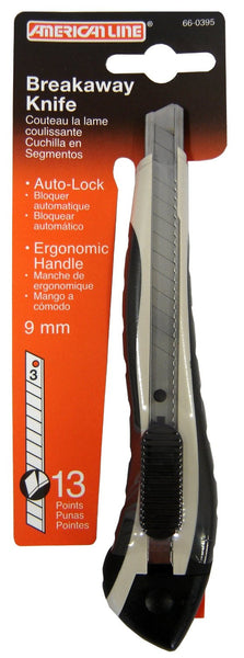 American Line 66-0395 Breakaway Snap Off Knives With Three Blades
