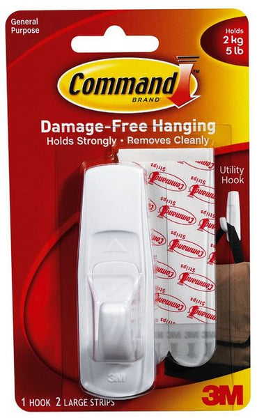 Command 17003 Large Utility Hook, Holds 5 Lbs