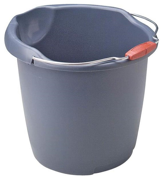 Newell Rubbermaid 296900AQUAM/BBF Utility Bucket, 15 Quart, Blue Mist
