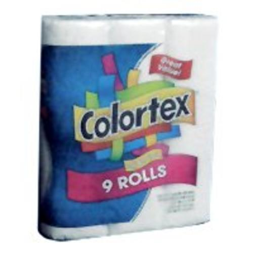 Orchid 016621/116661 Colortex Soft 'N Fluffy Bathroom Tissue, 9 Rolls