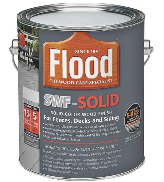 Flood FLD390 SWF-Solid Color Wood Finish, True White, 1 Gallon