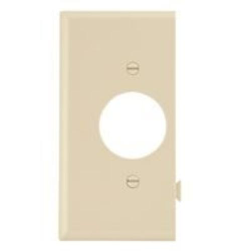 Cooper Wiring STE7V Snap Toggle Single Receptacle Wall Plate ,Ivory