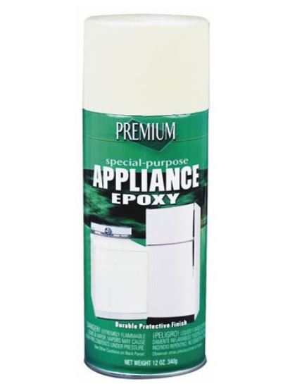 Premium 208420 Appliance Epoxy Spray Paint, 12 Oz, Almond