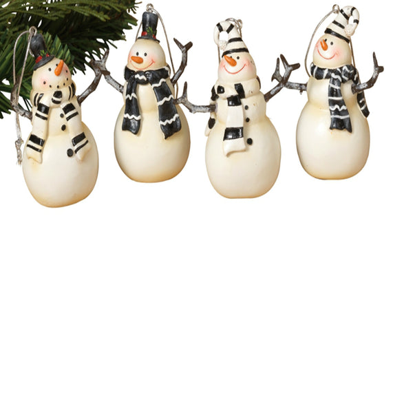 "Gerson 2313350 Snowman Christmas Ornament, Resin, 3"" H"