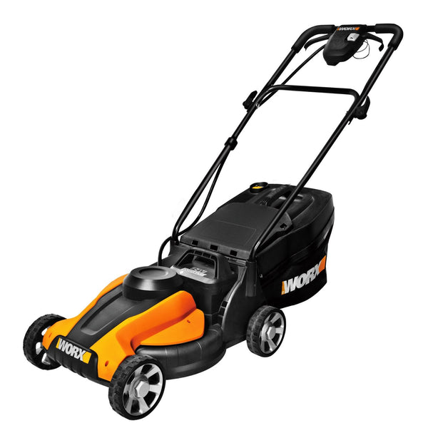 Worx WG775 Cordless Electric Lawn Mower With Grass Catcher, 24-Volt