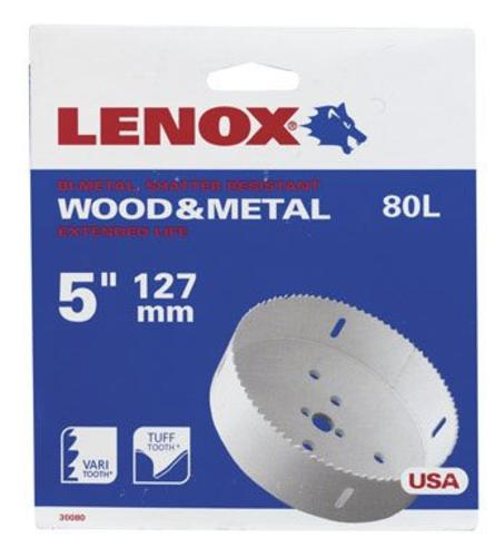 "Lenox 1772077 Bi Metal Hole Saw, White, 5 "" Dia 1-1/2 "" Depth Cut"