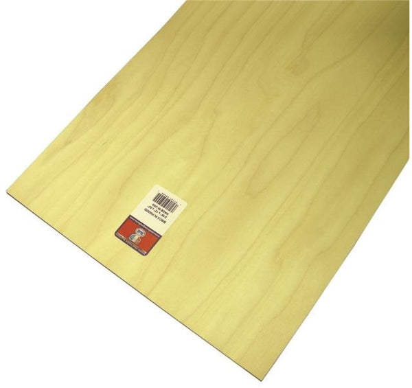 "Midwest Products 5245 Craft Plywood Sheet, 3/16""H x 12""W x 24""L"