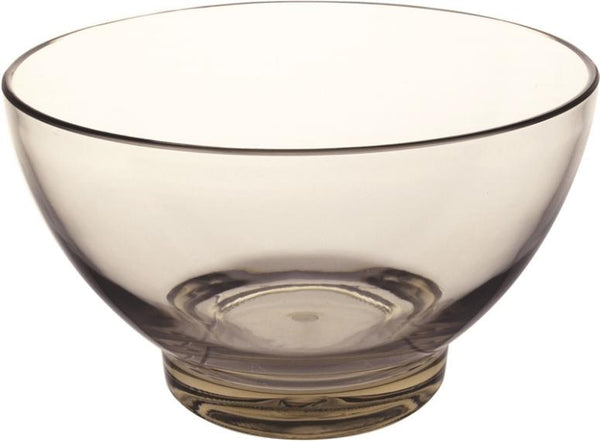 Knack3 165306I Acrylic Clear Large Bowl, Warm Gray, Round