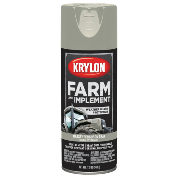 Krylon K01938000 Farm & Implement Spray Paint, Massey Ferguson Gray, 12 Oz