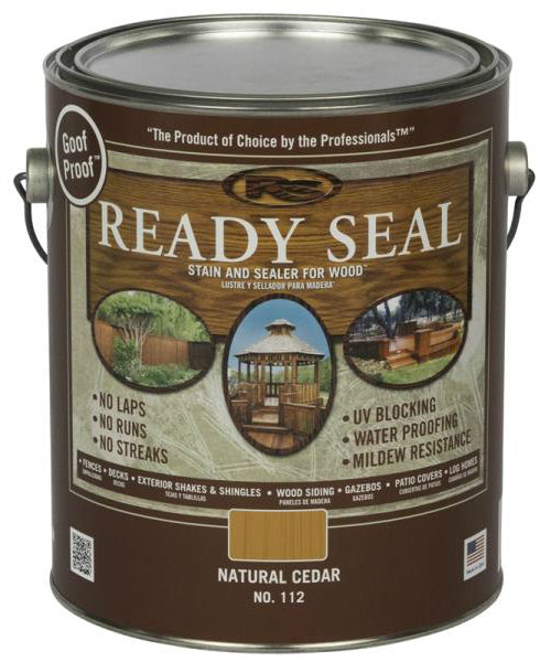 Ready Seal 112 Natural Cedar Exterior Wood Stain and Sealer, 1 Gallon
