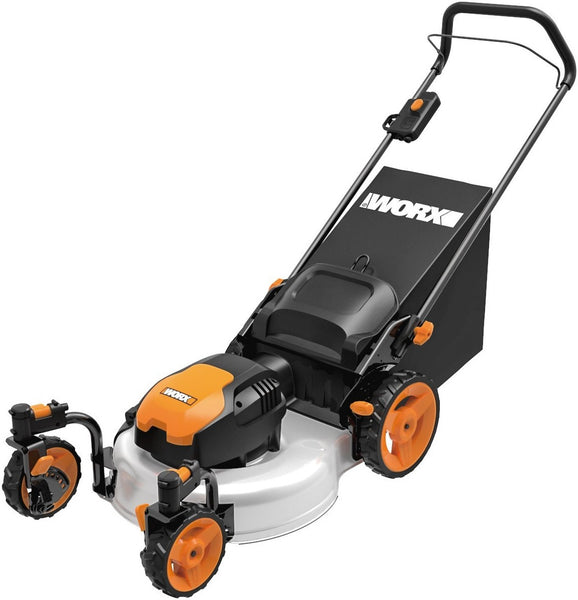 "Worx WG719 Electric Lawn Mower, 19"", 13 Amp"