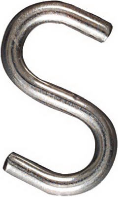 "National Hardware® N233-569 Open S Hook, 3"", Stainless Steel"