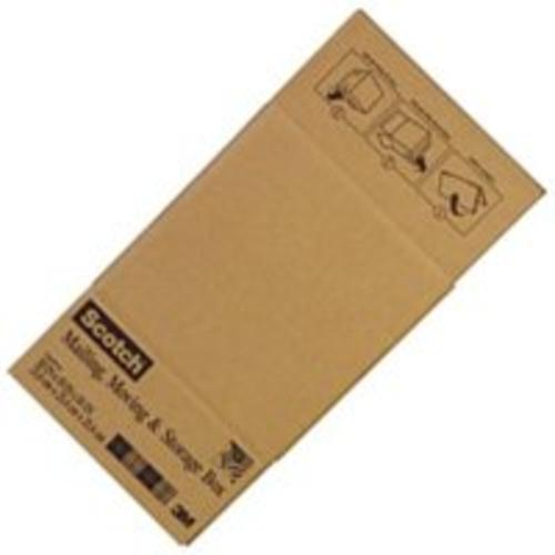 "Scotch 8010FB Shipping Folded Box 10""x10""x10"", Tan"