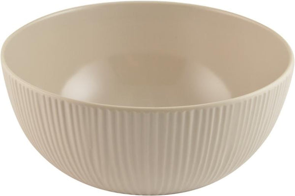"Knack3 166111I Cabin Melamine Bowl, Warm Gray, 6"" Diameter"