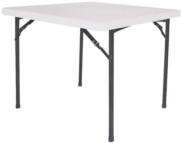 "Homebasix BT036X001A  Square Folding Table, 36"", White"