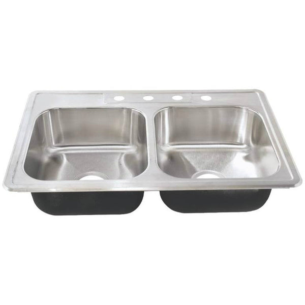 Sterling Plumbing 11401-4-NA Southhaven Double Bowl Kitchen Sink