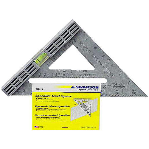 "Swanson T0111 Square Speed Levl 8"" Gray"