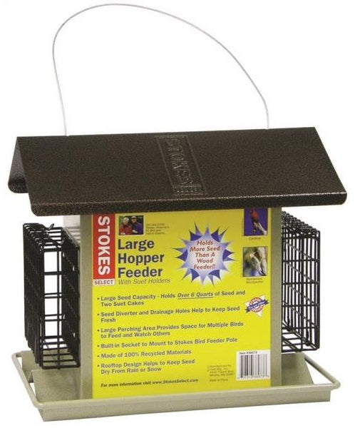 Stokes Select 38111 Large Bird Hopper Feeder
