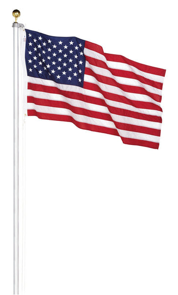 Valley Forge AFP20F Aluminum In-Ground Flag Pole Kit with US Flag