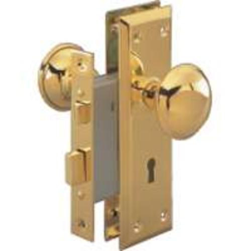 Toolbasix 6870372-3L Mortise Lock Kit, Polished Brass