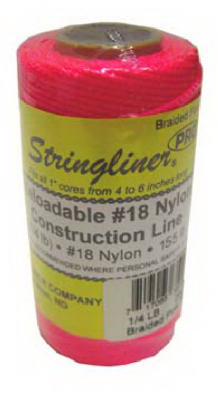 Stringliner Braided Construction Line Roll, 1/4#,250',Fluorescent Pink
