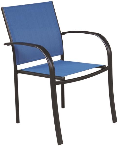 Seasonal Trends C4012SBKCY014 Belvedere Sling Dining Chair, Steel Frame, Blue