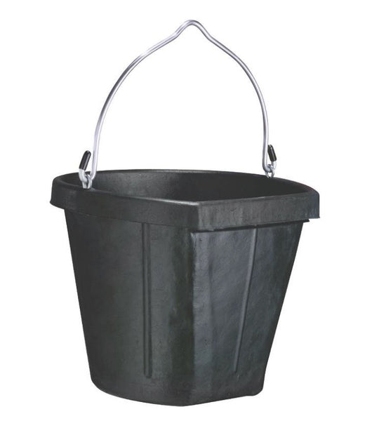 Fortex/Fortiflex B600-18 Flat Side Feed Bucket for Horses, 18-Quart