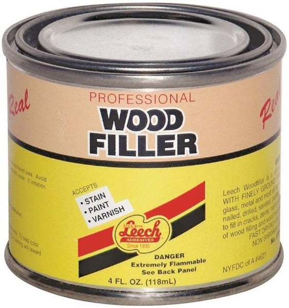 Leech LWF-67 Superior Grade Real Wood Filler, 4 Oz