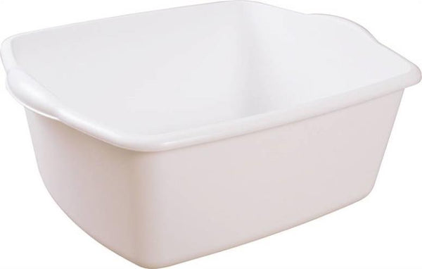 "Sterilite 06588012 Dishpan, White, 18 Quarts, 17-1/2"" x 14-1/4"" x 7"""