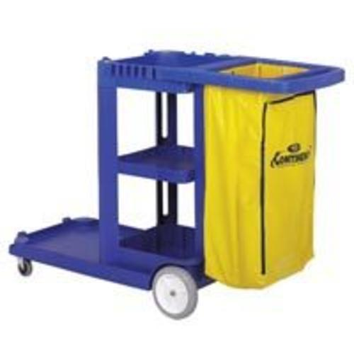 Continental Commercial 184BL Light Duty Janitorial Cart 25 Gal., Blue