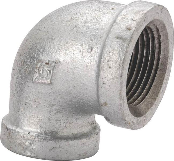 Worldwide Sourcing 2A-1/2G Galvanized 90 Degree Elbow, 1/2""