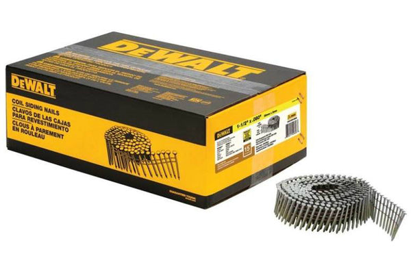"DeWalt DWC4R80BDG 15-Degree Coil Siding Nails, 0.080"" x 1-1/2"""