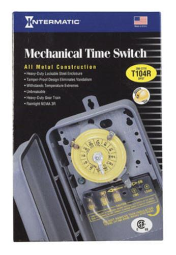 Intermatic T104R Mechanical Time Switch Electric Hot Tub Timer, 40Amp