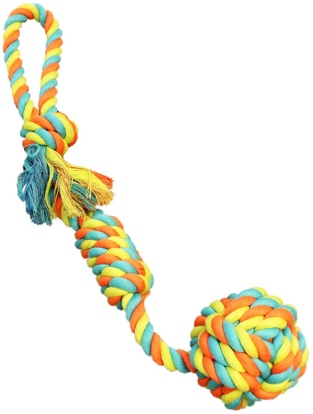 Chomper WB15513 Rope Fist Tug Dog Toy, Assorted Colors