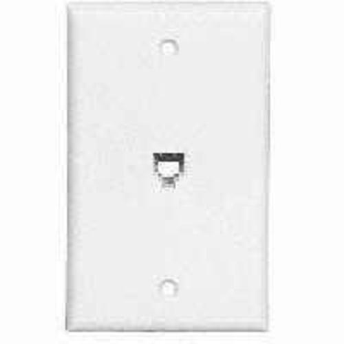 Cooper Wiring 3532-4W Telephone Wall Jack Single Gang - White