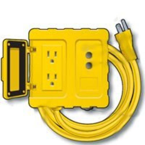 Shock Safe GF200806 GFCI Power Boxe Yellow, 6'x12/3 Cord