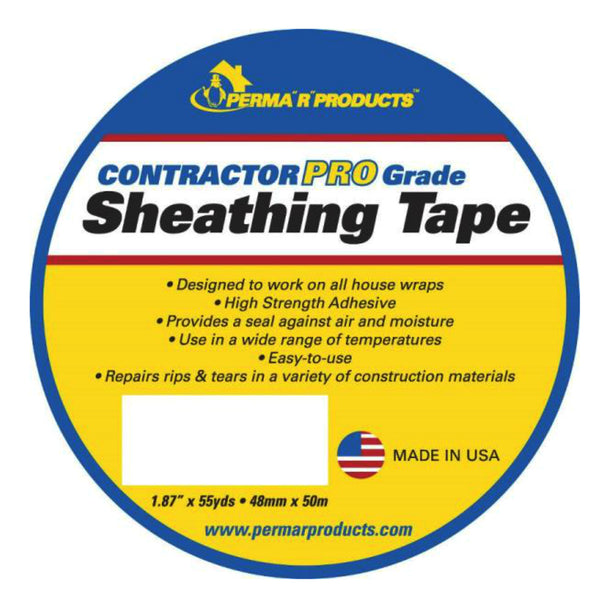 Perma R Products 18755 Contractor Pro Sheathing Tape, White