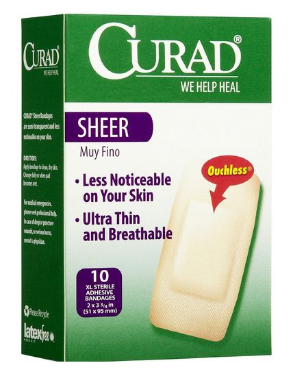 Curad CUR02277 Sheer Adhesive Bandages, X Large