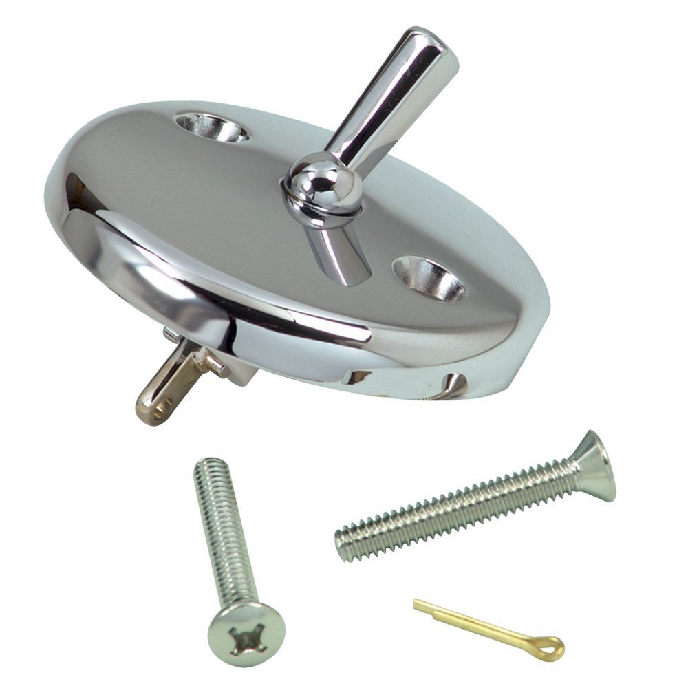 Danco 9D00080991 Round Bath Drain Overflow Plate With Lever, Chrome Plated
