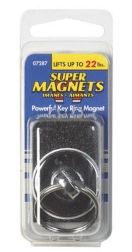 Master Magnetics 07287 Round Super Magnet With Key Ring, 22 Lb.